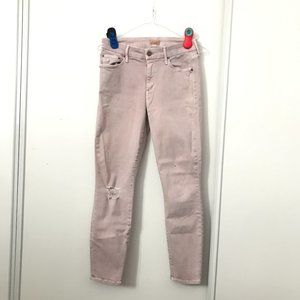 "Mother Looker Crop Jeans Light Pink 26"" Inseam"